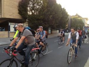 Riders in Dorchester Street