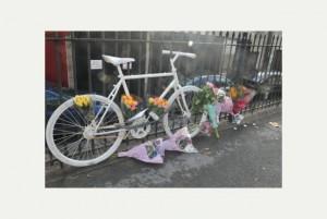Ghost Bike at Midland Bridge Road