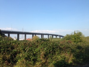 M5 motorway bridge at Avonmouth