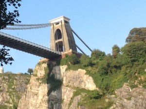 Bristol Suspension Bridge.  View from cyclepath.