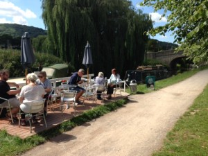 Cafe on the Barge at Bathampton.