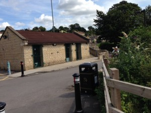 Closed Batheaston toilets in the car park