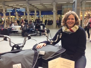 Waiting for Eurostar. Brompton bags full up