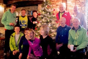 Christmas ride at pub in Doynton. Rode on the The Spinning Wheel in Marshfield for lunch on 17th December.